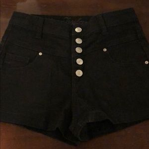 High Wasted Black Shorts
